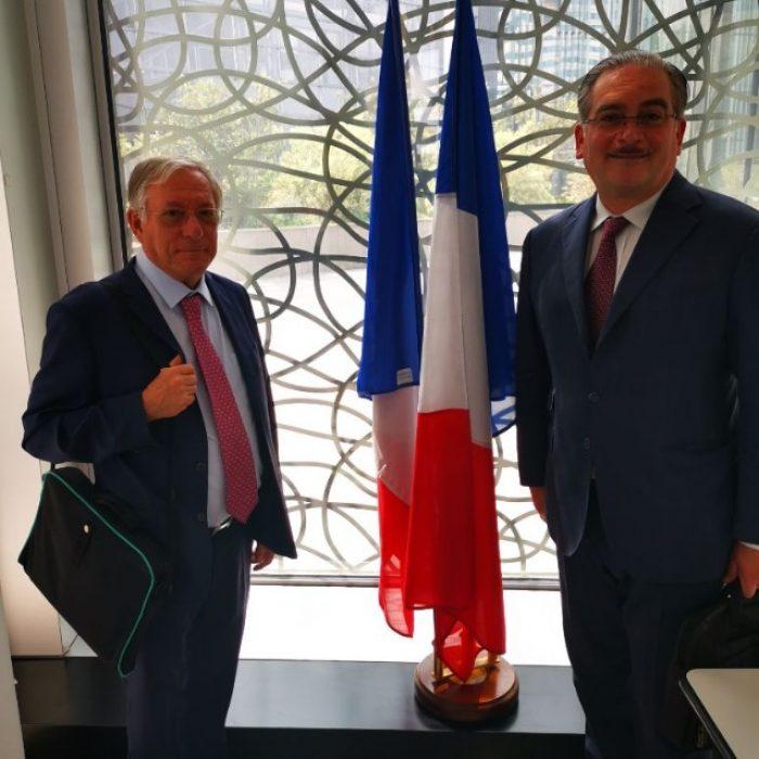 Claude MONBEIG  et  Dagobert PUJOL     au Ministère des Transports